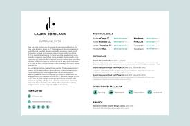 A4 Landscape Resume Template By White Hart Design Co On