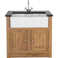 Oak 2 Door Sink Cabinet 980x665x900mm