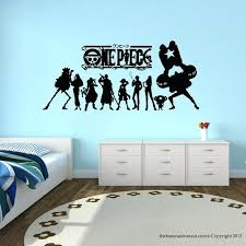 anime wall decals one piece anime wall decal stickers decor modern stickers vinyl decal cartoon home