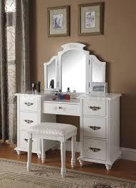 black makeup vanity with drawers. tri fold mirror black vanity with stool globorank. poundex regarding bedroom drawers makeup w