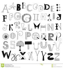 Letters In Design Hand Drawn Alphabet Letters From A To Z Set Of Doodle