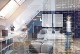 Schlafzimmer Graues Bett Wohndesign