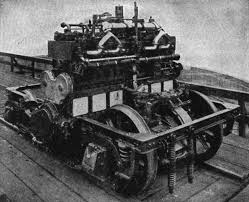 motor truck with engine