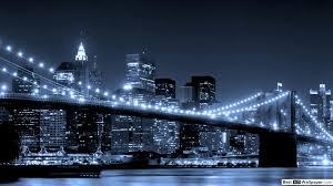 Brooklyn Bridge Lights Brooklyn Bridge Night Lights The River Hd Wallpaper Download