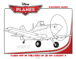 Disney Planes Printable Coloring Pages And Dusty At Dayton Air Show