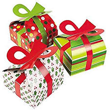 Amazoncom 3D Christmas Gift Boxes With Bow  Party Favor U0026 Goody Where Can I Buy Gift Boxes For Christmas