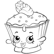 Bff Valentine Coloring Page Cupcake With Shopkins Pages Best For