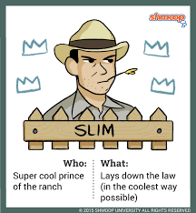 slim in of mice and men character analysis