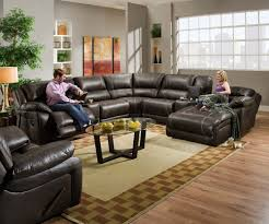 brown leather sectional couches. Blackjack Simmons Brown Leather Sectional Sofa Chaise Lounge Theater Reclining #Simmons #Traditional Couches