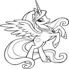 Twilight Sparkle Alicorn Coloring Pages Pony Page Source Alex Photo