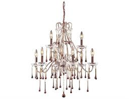 elk lighting once rust amber crystal nine light 25 wide chandelier 4013 6 3amb