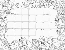 Small Picture May 2017 Calendar Coloring Page Flower Moon Studio Inkcycle