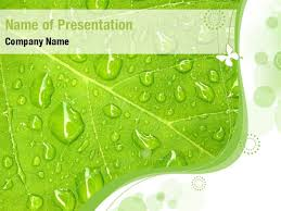 Water Drops Template Green Water Drops Powerpoint Templates Green Water Drops