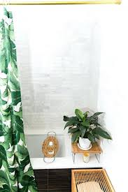 smlf a taste of tour this chefs sophisticated abode shower curtain green leaf bathroom ideas lime green