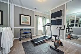 Small Picture At home gym decorating ideas home gym transitional with gray walls