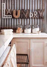 corrugated metal wall in the laundry room home tour of lisa souers