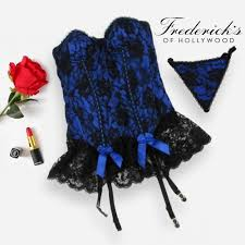 Details About Fredericks Of Hollywood Womens Parisian Lace Corset And Panties Set Size 32 S