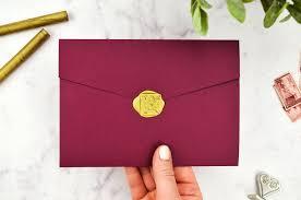 diy wax seals wedding invitations burdy and gold