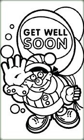 Get Well Soon Printable Coloring Pages Cards Request Card Cardstock