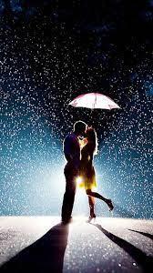 Love Couple in Rain