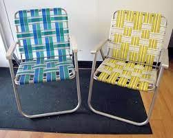 folding aluminum lawn chair webbed