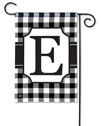 check monogram e garden flag