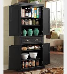 Kitchen Storage Furniture Kitchen Sturdy Big Kitchen Storage Furniture In Black Finished