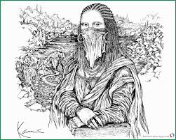 Awesome Models Of Mona Lisa Coloring Page Coloring Pages