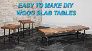 how to make a live edge wood slab coffee table with inlay