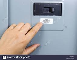 main breaker switch. Exellent Switch Female Hand Near Main Circuit Breaker Of House Power Panel  Stock Image With Main Breaker Switch E