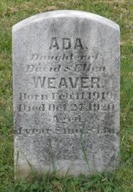 Ada Weaver (1919-1920) - Find A Grave Memorial