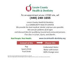 lorain county health dentistry rethink your drink