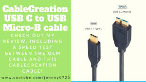 CableCreation <b>USB C</b> to <b>Micro</b>-B 3.0 (Gen2/ 10G) review and speed ...