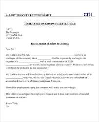 Salary Letters From Employer Salary Transfer Letter Template 5 Free Word Pdf Format Download