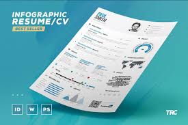 Infographic Resume Vol 1 Psd Indd Docx By The Resume Creator