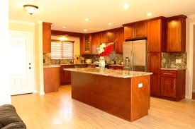 light cherry kitchen cabinets. Light Cherry Kitchen Cabinets With Marble Countertop On Wooden Floor Drop Ceiling Lighting In The Room Z