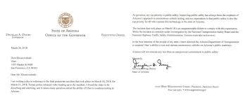 Arizona Governor Suspends Uber Test License Indefinitely The Last