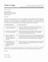 Firefighter Cover Letters Beautiful Fire Captain Cover Letter Lock