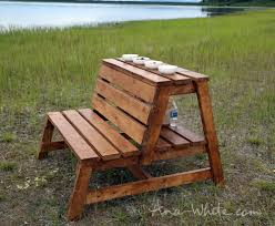 Diy Bench Ana White Firepit Benches With Table And Storage Diy Projects