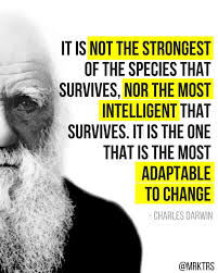 Image result for images of darwins quote about change