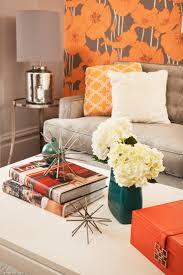 Chic Victorian  Coddington Design  Den Detail orange wallpaper, orange  floral wallpaper, gray