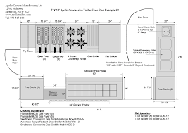 food truck floor plans. 14ft Concession Trailer Floor Plan Example 2 Food Truck Plans R