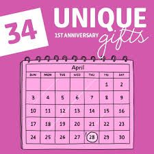 34 unique first anniversary gifts to