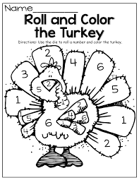 Small Picture Roll and Color the Turkey So many FUN fall printables Projects
