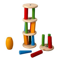 How To Play Tumbling Tower Wooden Block Game Plan Toys Tower Tumbling 100100 14
