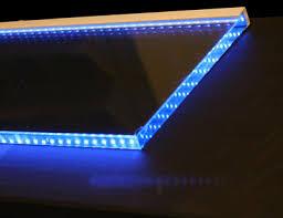 shelf lighting strips. polished edge glass shelf with led strip lighting strips
