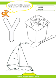 Small Picture Kids Under 7 Letter Y Worksheets and Coloring Pages
