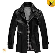 black leather trench coat for men cwmalls com