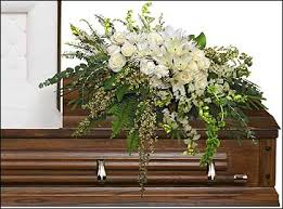 garden elegance casket spray funeral flowers in plainview tx kan del s fl candles gifts