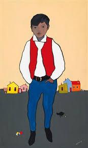 Portrait of Frankie Smith of Carcross by Ted Harrison on artnet